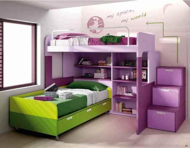 3 claves en la decoraci n un dormitorio juvenil for Ideas muebles para poco espacio